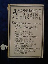 A MONUMENT TO ST AUGUSTINE by VARIOUS-SHEED & WARD-H/B WITH JACKET UK POST £3.25