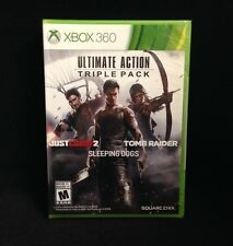 Ultimate Action Triple Pack (Xbox 360) Just Cause 2 / Tomb Raider /Sleeping Dogs