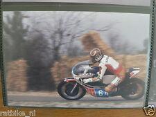 S1220-TAKAZUMI KATAYAMA YAMAHA 350 CC HILVARENBEEK 1977 NO 64 PHOTO COLOR MOTO