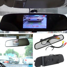 "Car 4.3"" LCD Screen Display Reverse Parking Camera Rearview Mirror Color Monitor"