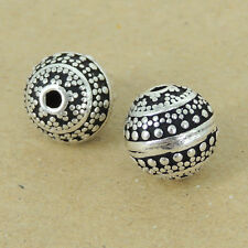 2 Pcs 925 Sterling Silver Round Beads Vintage Celtic DIY Jewelry Making WSP386X2