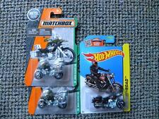 THREE MATCHBOX AND HOT WHEELS MOTOR CYCLES    1:64 DIE-CAST LOT