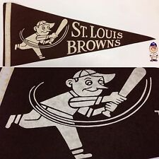 1940's St Saint Louis Browns Stl Pennant Mlb Baseball 11x28