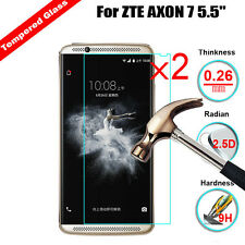 2X 9H Real Ultra Clear Tempered Glass Screen Protector Film Guard For ZTE Axon 7