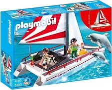Playmobil 5130 7350 Catamaran with Dolphins and Underwater Motor
