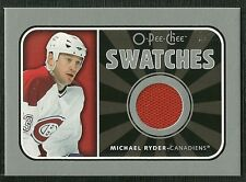 MICHAEL RYDER 06-07 O-PEE-CHEE SWATCHES GAME USED JERSEY MONTREAL CANADIENS