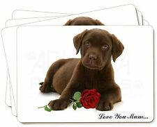 Puppy+Rose 'Love You Mum' Picture Placemats in Gift Box, AD-CBR1RlymP