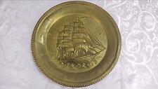 VINTAGE GRANDE placca di metallo piatto Muro Appeso Ship Wall Art