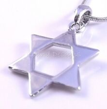 Star Of David Magen Judaica Necklace Pendant Kabbalah Silver Jewish Israel Gift