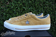 CONVERSE ONE STAR NUBUCK OX SZ 8 SOBA YELLOW ASH GREY WHITE 153718C