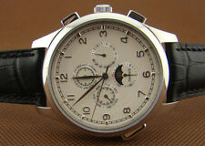 44mm Parnis Stainless steel Automatic Men's watch(strap 7 color to choose) 1049