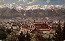 Innsbruck Tirol alte WIRO Künstlerkarte 1921 Gesamtansicht vom Berg Isel aus