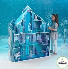 "Disney Frozen Snowflake Mansion Dollhouse + 19 Pieces of Furniture Fits 12"" Doll"