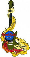 Hard Rock Cafe KOWLOON 2000 GRAND RE-OPENING GO Yellow DRAGON Green GUITAR PIN
