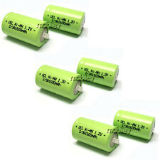 6 pcs NiMH 2/3 A 2/3A 1600mAh 1.2V Rechargeable Battery With W/ Tab Green