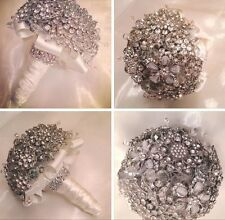 ❤️ Bridal Diamanté Brooch Bouquet Crystal Wedding Flowers Stunning