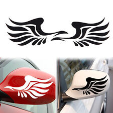 2pc Fire Wings Pattern Side Mirror Car Stickers Decorative  Black