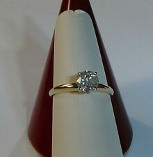 1 CT ROUND CUT NATURAL DIAMOND SOLITAIRE ENGAGEMENT RING SET 14K YELLOW GOLD