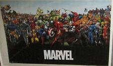 MARVEL SUPER HEROES POSTER COLLECTABLE  MARVEL DC COMICS LIMITED PRODUCTION RUN