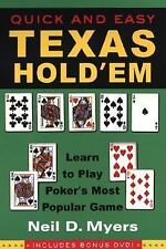 Quick and Easy Texas Hold'em--Includes Instructional DVD, Myers, Neil, Good Book