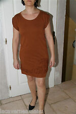 jolie dress robe coton lyocell marron COP COPINE perle taille L (42)