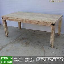 Metal Factory solid wood Industrial Dining table Dinner 6 8 seater 180cm