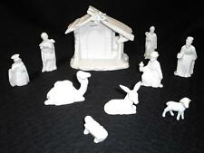 Midwest Japan Musical Nativity Set excellent condition All White Porcelain China