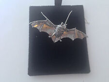 A34 Bat on a 925 sterling silver Necklace Handmade 16 inch chain