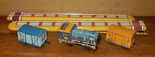 Tolato Mozdony Tin Litho Wind-Up Channel Train Made in Hungary