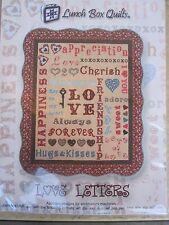 Love Letters  Designs for Embroidery Machine by Lunch Box Quilts with USB NEW