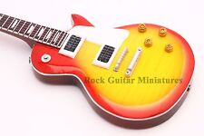 RGM139 Jimmy Page Led Zeppelin Sunburst Miniature Guitar with leather strap