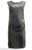 DOROTHY PERKINS BLACK SILER SEQUIN EMBELLISHED EVENING PARTY COCKTAIL DRESS