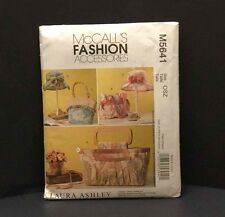 McCalls 5641 Laura Ashley Fashion Accessories Sewing Pattern Bags Hats NEW