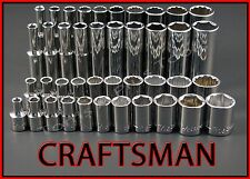 CRAFTSMAN HAND TOOLS 41pc LOT Standard & Deep 1/4 SAE ratchet wrench socket set