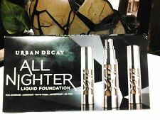 URBAN DECAY All Nighter Liquid Foundation 4 pod sample cards (0.03oz x 4) NEW