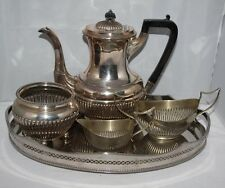 Antique EPNS Coffee Set - Tray/Pot/Milk Jug/Sugar Bowls - James Dixon & Sons
