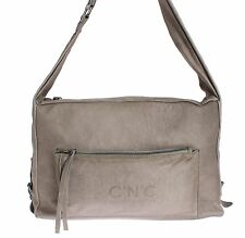 NWT $300 C'N'C COSTUME NATIONAL Gray Leather Messenger Shoulder Bag Cross Body