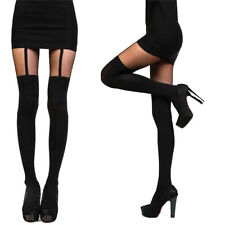 Fashion Women Girls Temptation Sheer Mock Suspender Tights Pantyhose Stockings