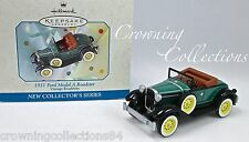 1998 Hallmark 1931 Ford Model A Roadster Ornament Vintage 1st in Series #1 Car