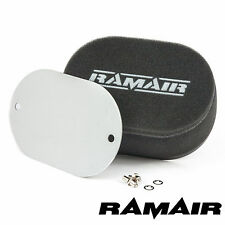 RAMAIR Carb Bolt On Air Filters With Blank Baseplate - 100mm Internal Height