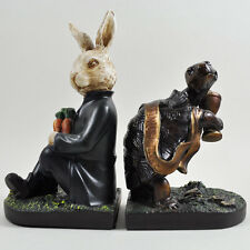 Tortoise And Hare Bookends Bronze Sculpture Standing Statue Figure NEW 01730