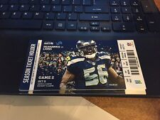 2015 SEATTLE SEAHAWKS VS DETROIT LIONS TICKET STUB 10/5 MONDAY NIGHT FOOTBALL