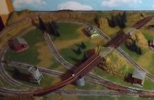 N SCALE CUSTOM MADE LAYOUT PLATFOARM WITH LAKE  one train operation