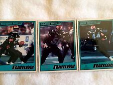 AFL Arena Football League Arizona Rattlers 3 Piece Magnetic Card Set