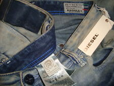 NWT$328 DIESEL KROOLEY DNA Made in ITALY W-0810V Slim Carrot Men's Jeans Sz33x32