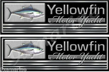 """Two Yellowfin Imitation Classic Name Plate Decal Set. 10""""x3"""" each"""
