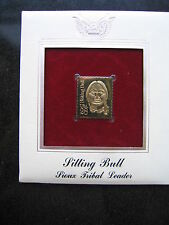 1989 SITTING BULL SIOUX TRIBAL CHIEF LEADER 22kt Gold Replica Stamp Golden Cover