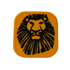 Embroidered The Lion King Sew & Iron On Appliqué Patch On Felt Musical Logo