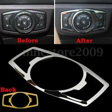 Interior Head Light Switch Control Button Cover Trim For Ford F150 F-150 15-16