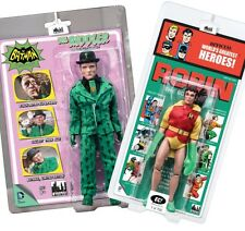 Two Emerald City Exclusive Figures 8-in Retro Mego Riddler-Suit and Kresge Robin